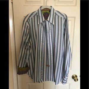 Robert Graham Men's bottom down shirt
